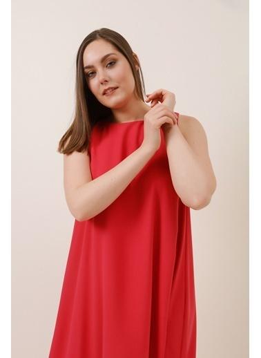 Gusto Arkası Çapraz Bağcıklı Uzun Elbise - Pembe Arkası Çapraz Bağcıklı Uzun Elbise - Pembe Pembe